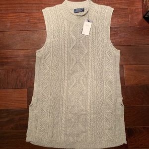 Polo Ralph Lauren sleeveless cable knit sweater